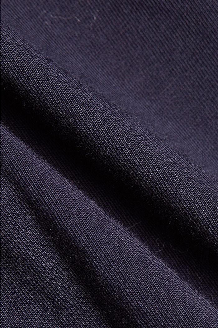 Basic T-shirt in 100% organic cotton, NAVY, detail image number 4