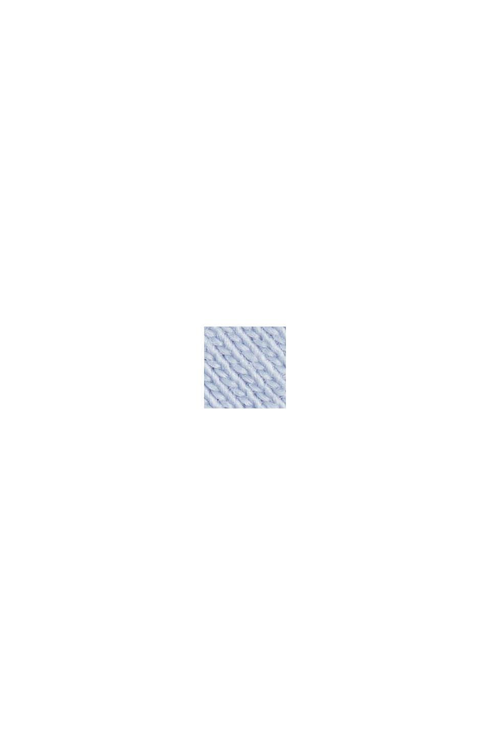 Basic tričko ze 100% bio bavlny, PASTEL BLUE, swatch
