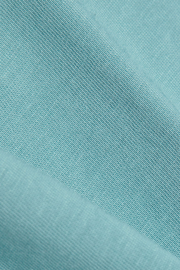 Basic-Shirt aus 100% Organic Cotton, DARK TURQUOISE, detail image number 4