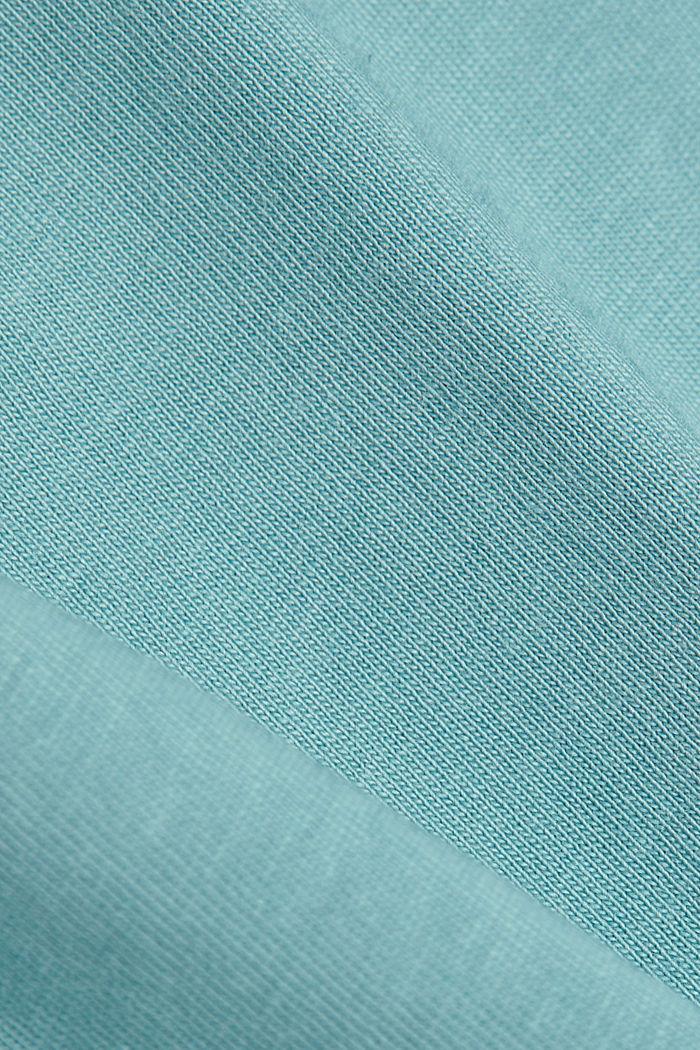 Basic T-shirt in 100% organic cotton, DARK TURQUOISE, detail image number 4
