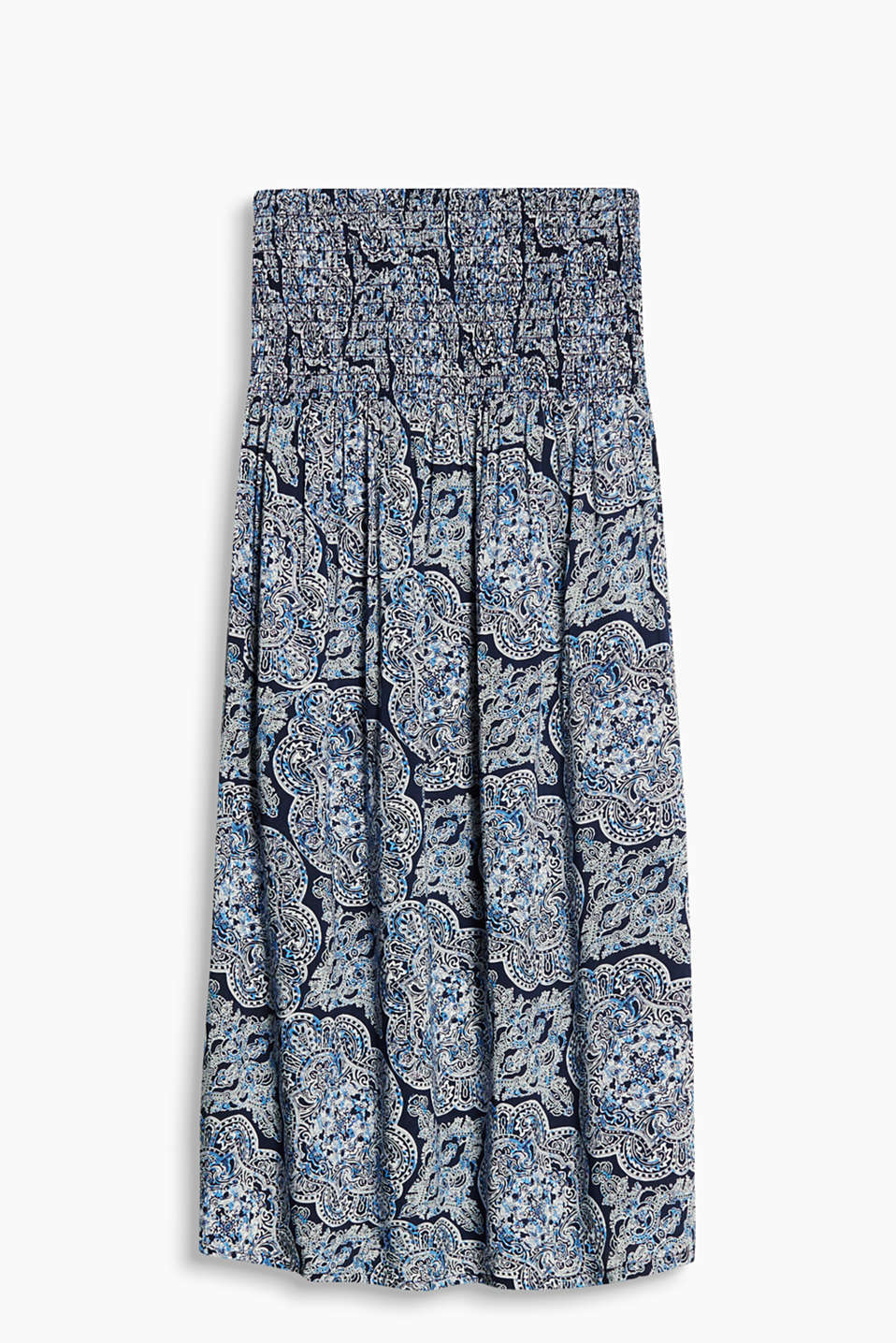 Collection: ROCKY BEACH - flowing bandeau dress with an ornamental print