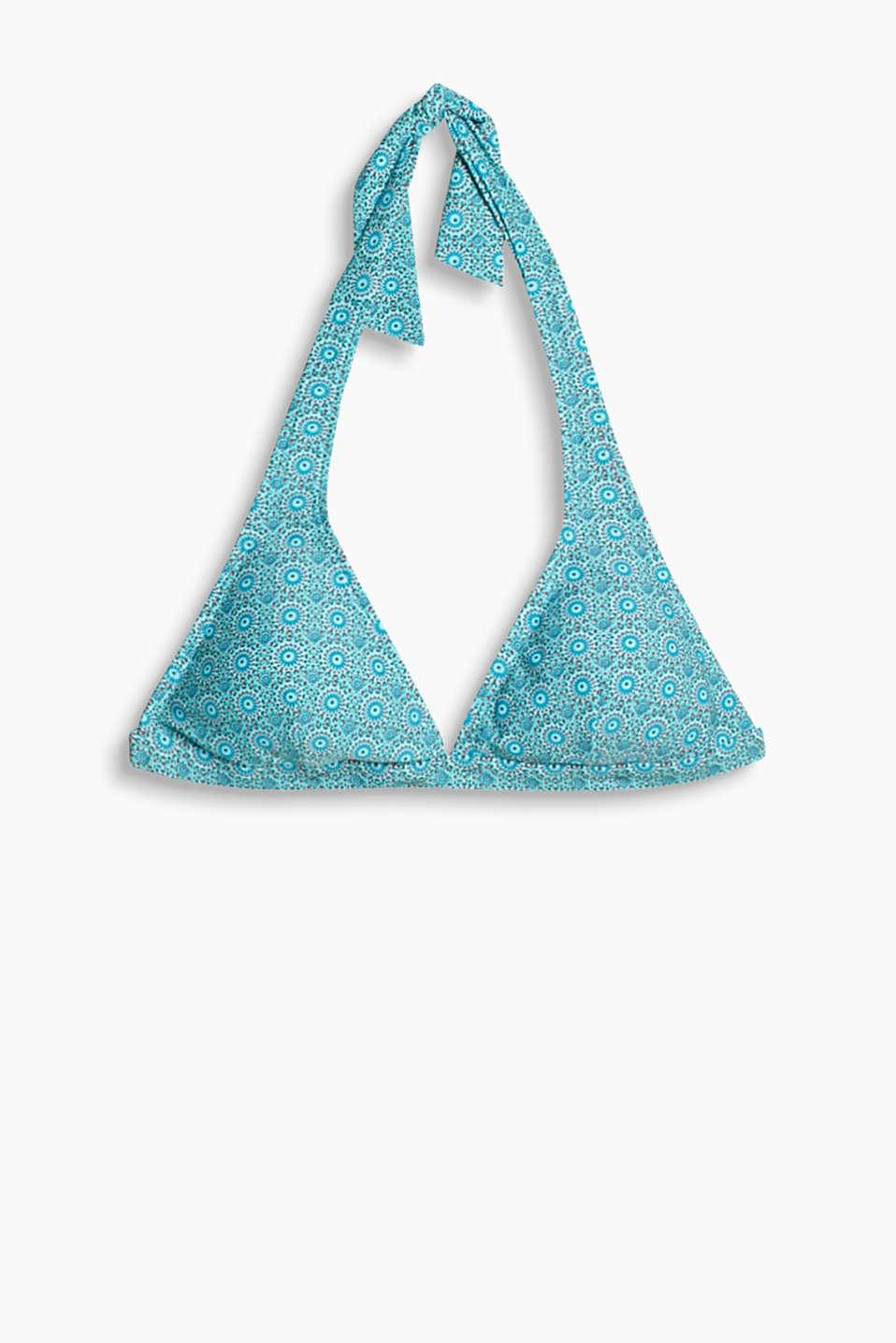 esprit wattierter neckholder bh mit print im online shop. Black Bedroom Furniture Sets. Home Design Ideas