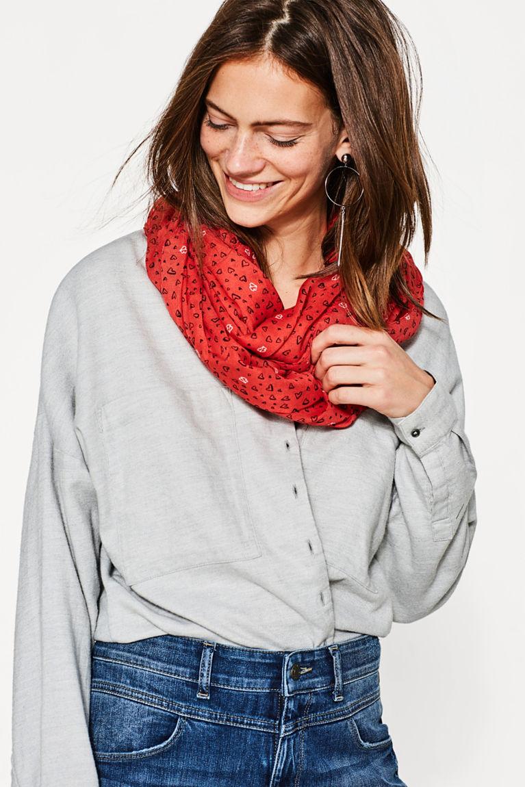 Loop-Schal mit Herzchen-Print