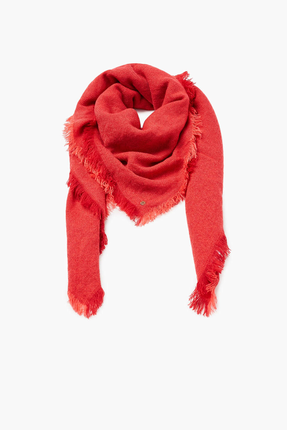 edc - Soft scarf with two-tone texture