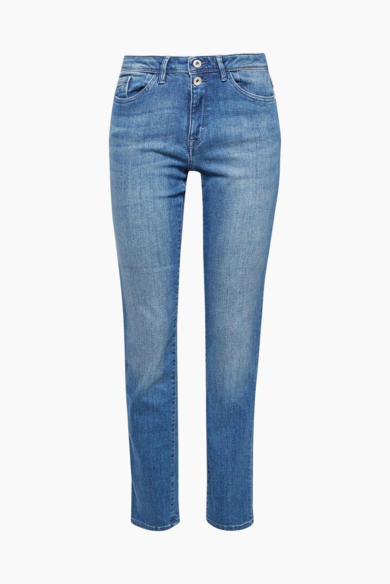 Stretch-Jeans mit doppeltem Knopf