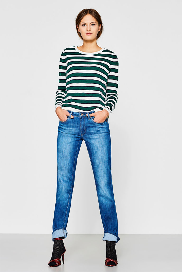 Stretch-Jeans mit Klappentaschen