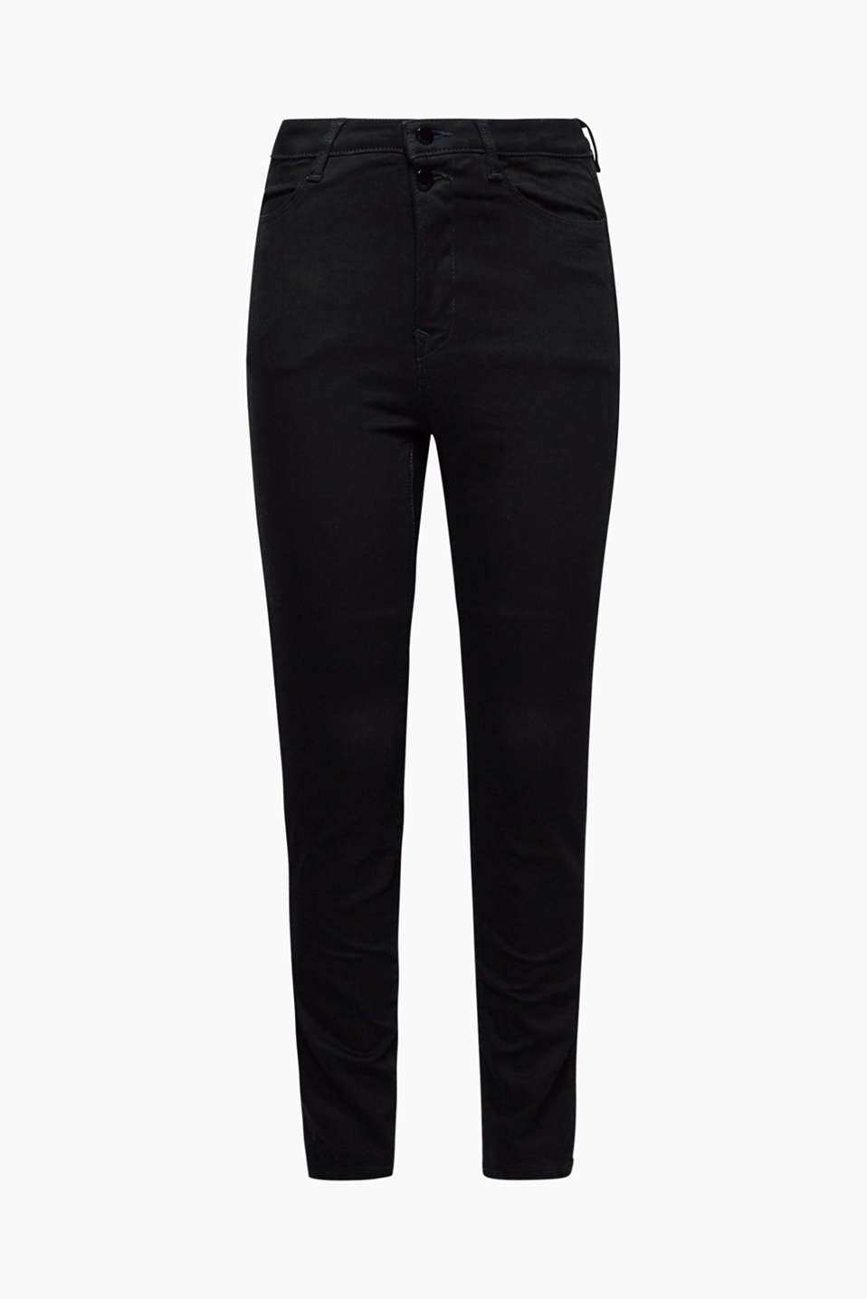 They create a sensational silhouette: stretch jeans with a high waistband and shaping effect.