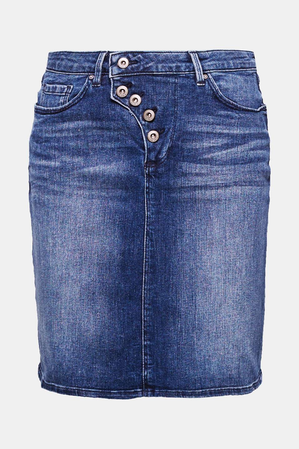edc stretch jeans rock mit knopfleiste im online shop kaufen. Black Bedroom Furniture Sets. Home Design Ideas