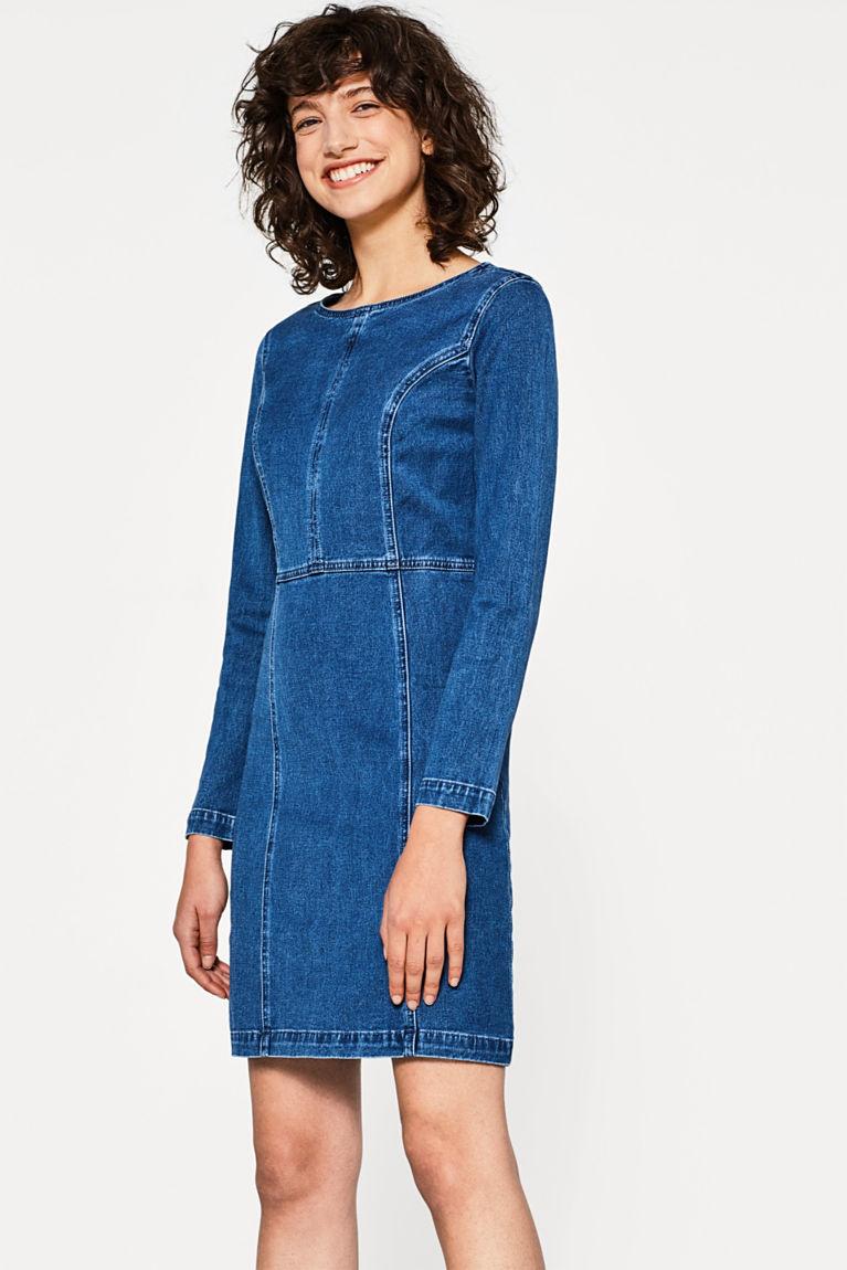 Jeans-Kleid aus Baumwoll-Stretch