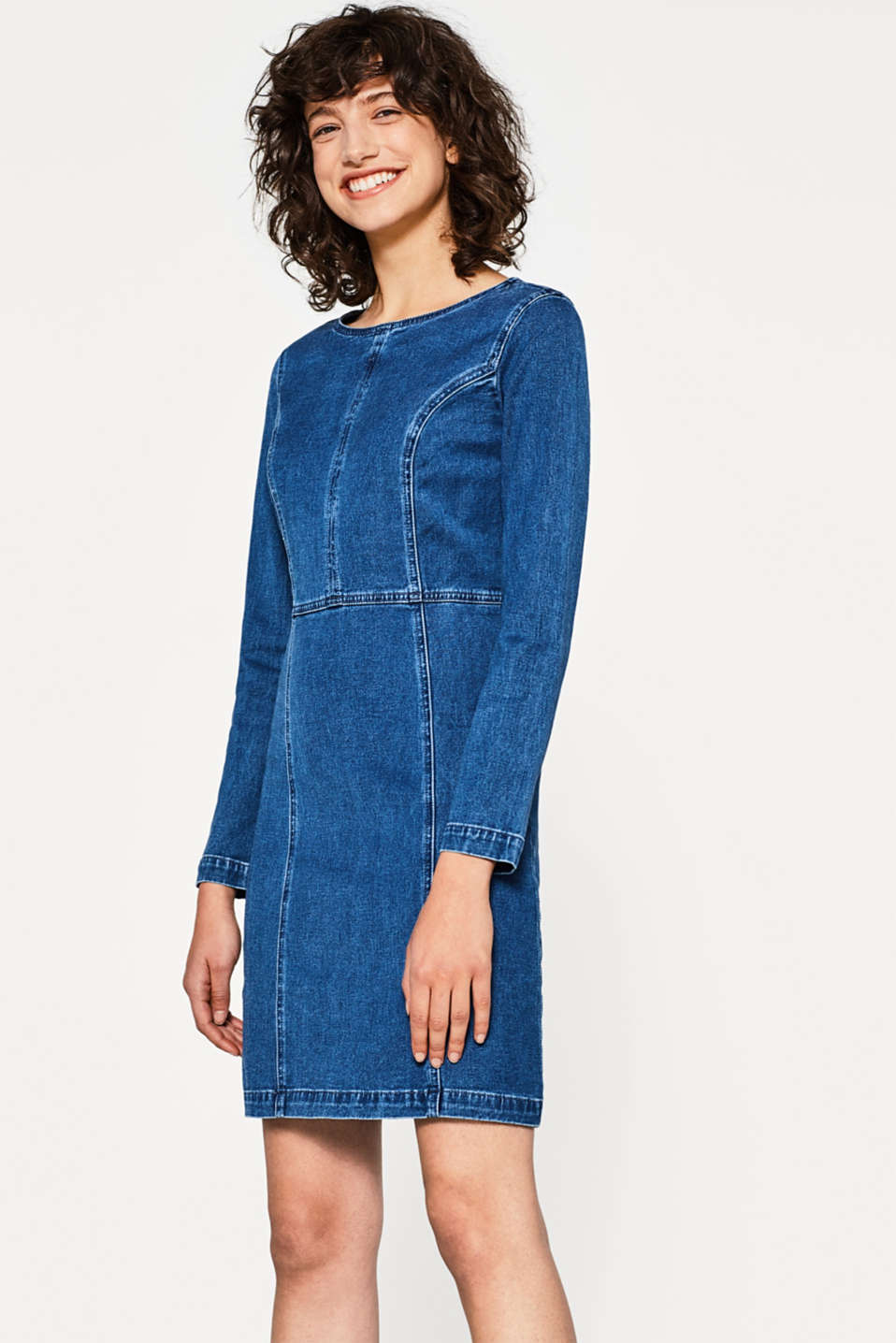 edc - Stretch cotton denim dress