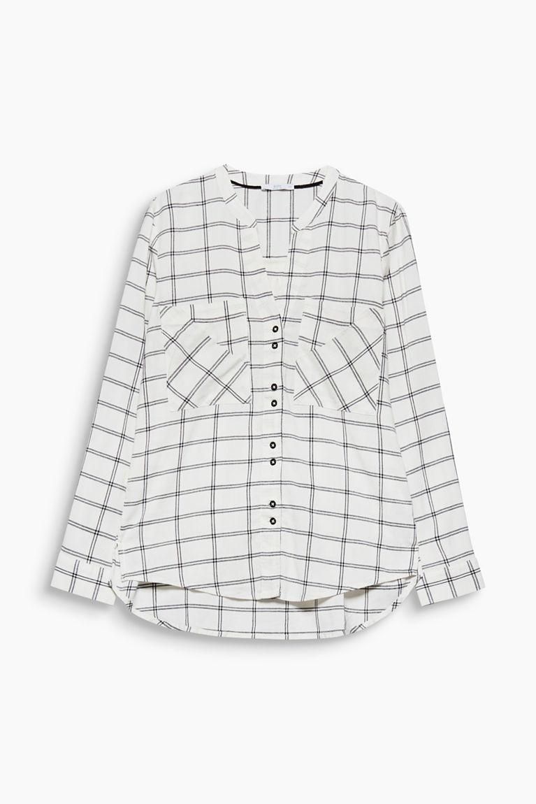 Karo-Bluse aus Organic-Cotton-Mix