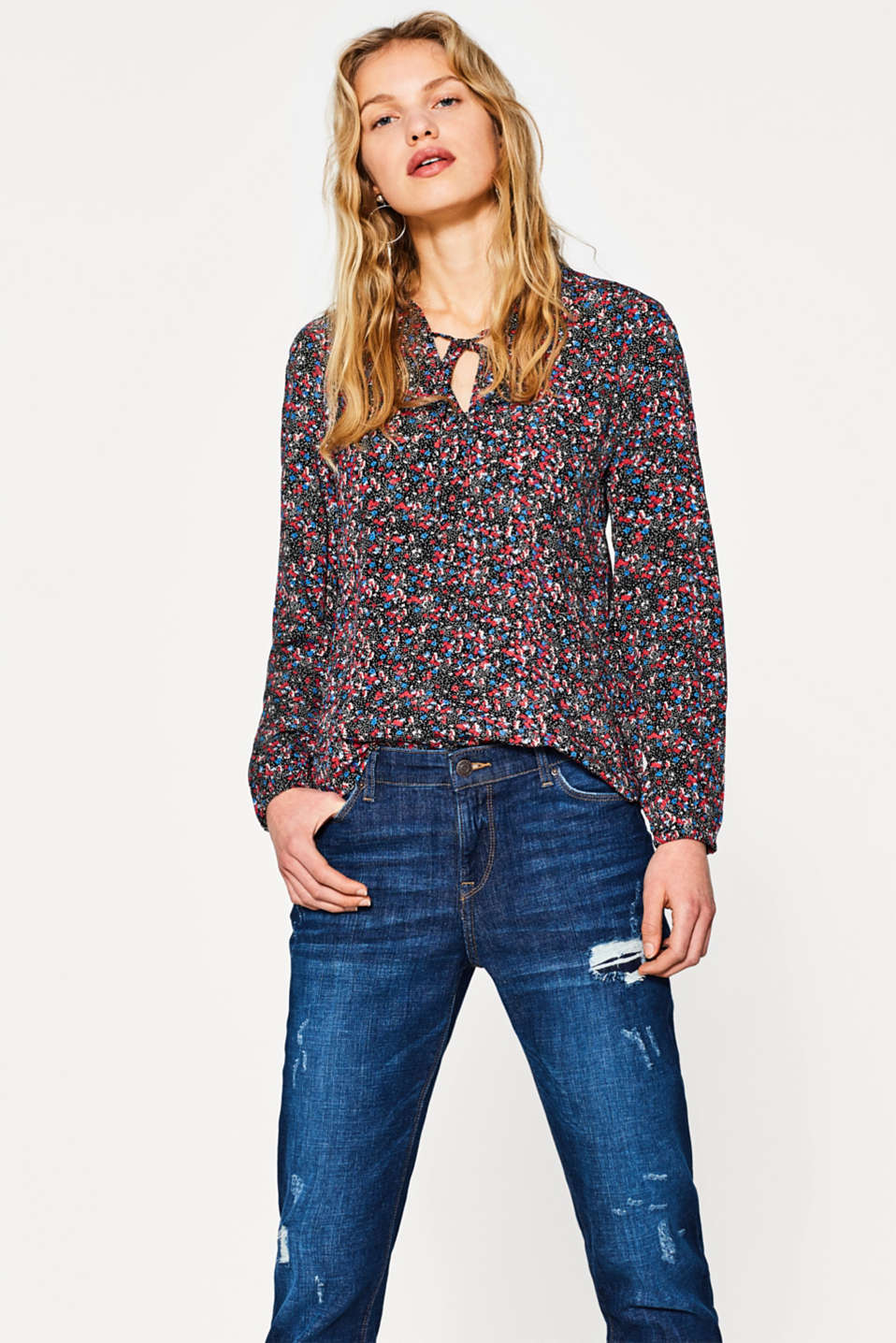 edc - Lightweight blouse + an all-over print
