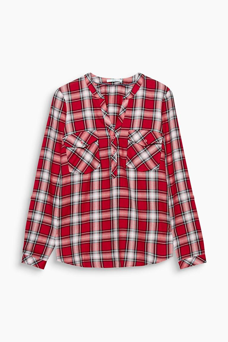 Henley-Bluse mit Organic Cotton