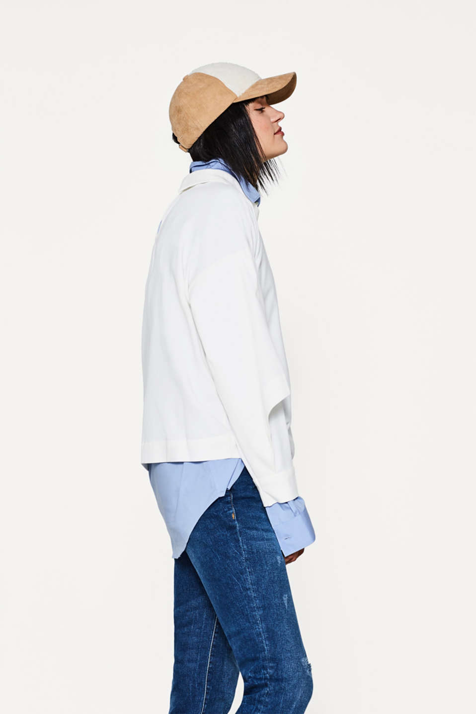 Oversized blouse + turn-down collar