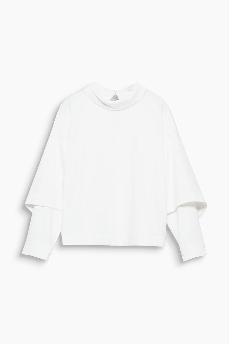 Oversize-Bluse mit Umlegekragen
