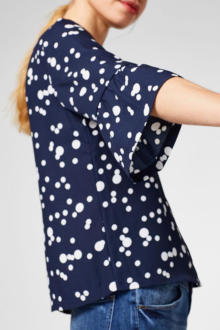 Bluse mit feinem Blumen-Print