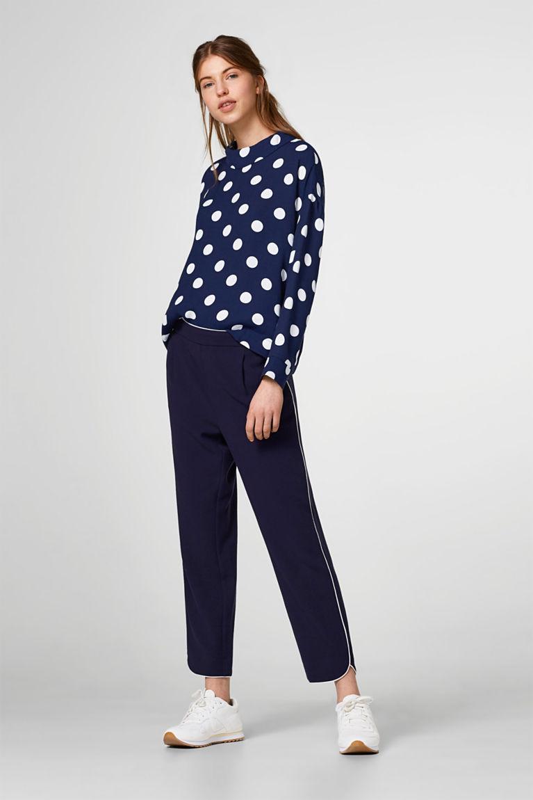 Oversize-Bluse aus Crépe