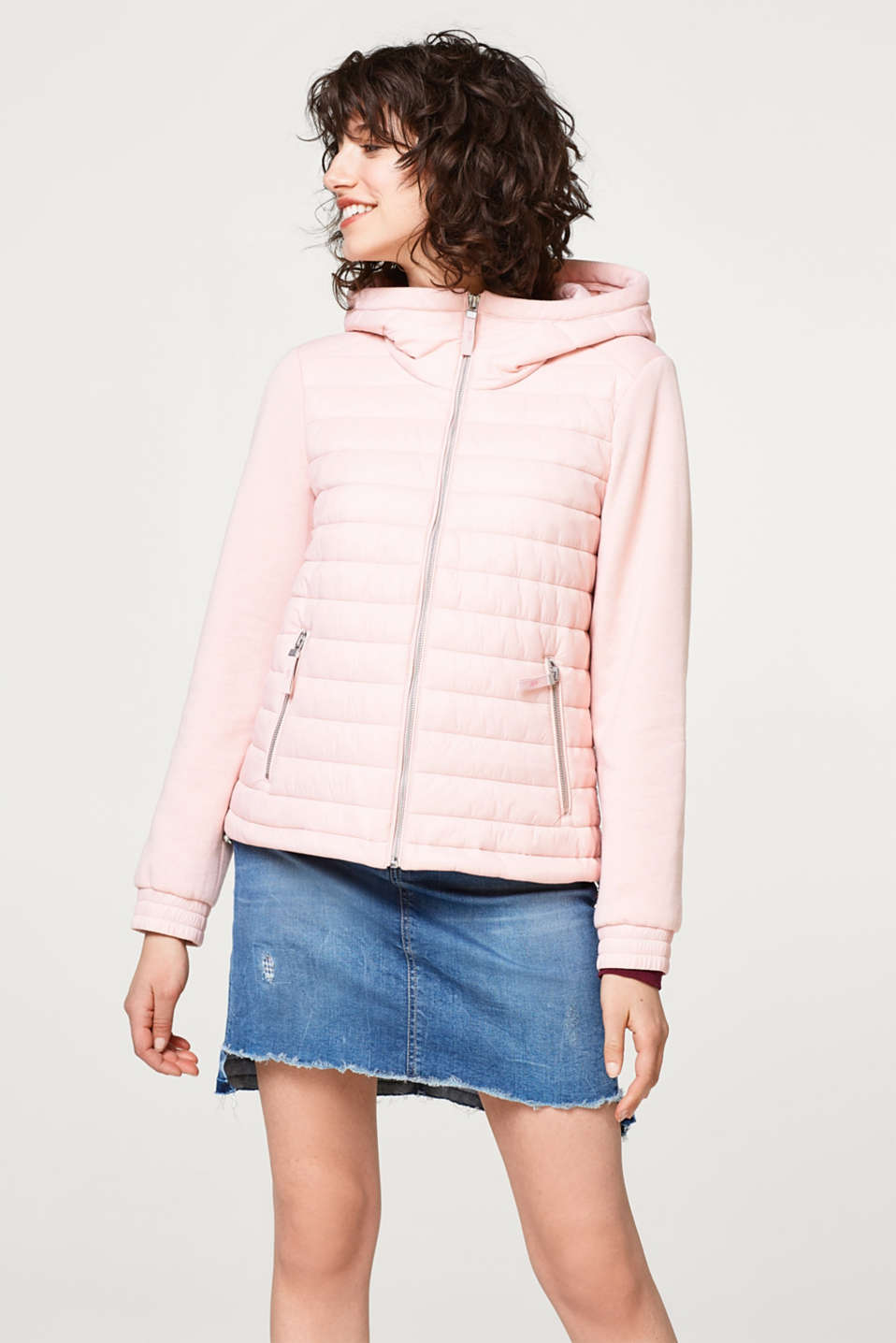edc - Material mix quilted jacket