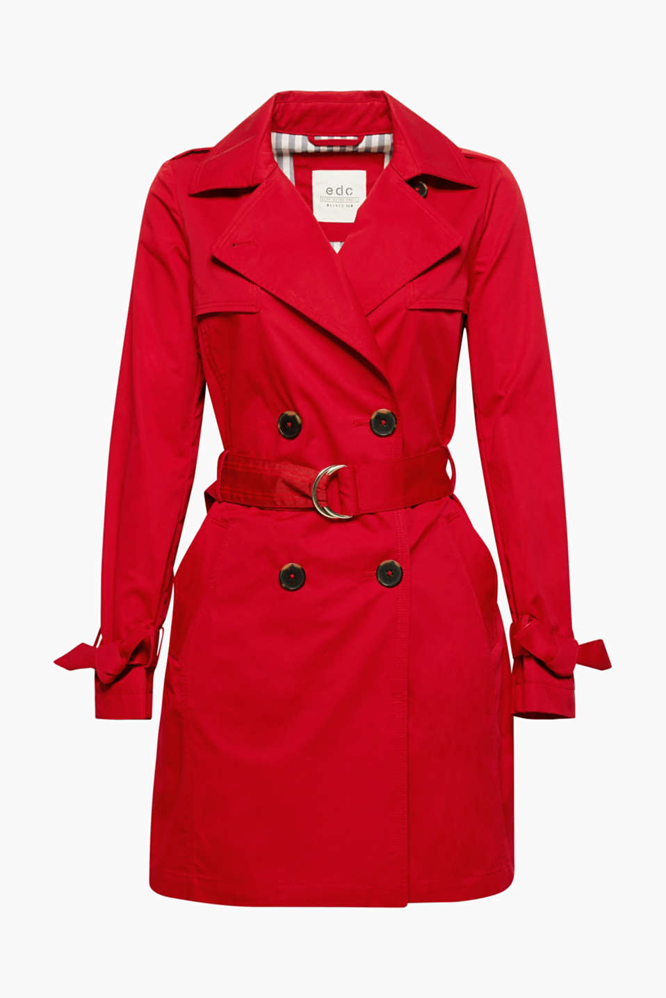 A classic that no wardrobe should be without: this trench coat in pure cotton.