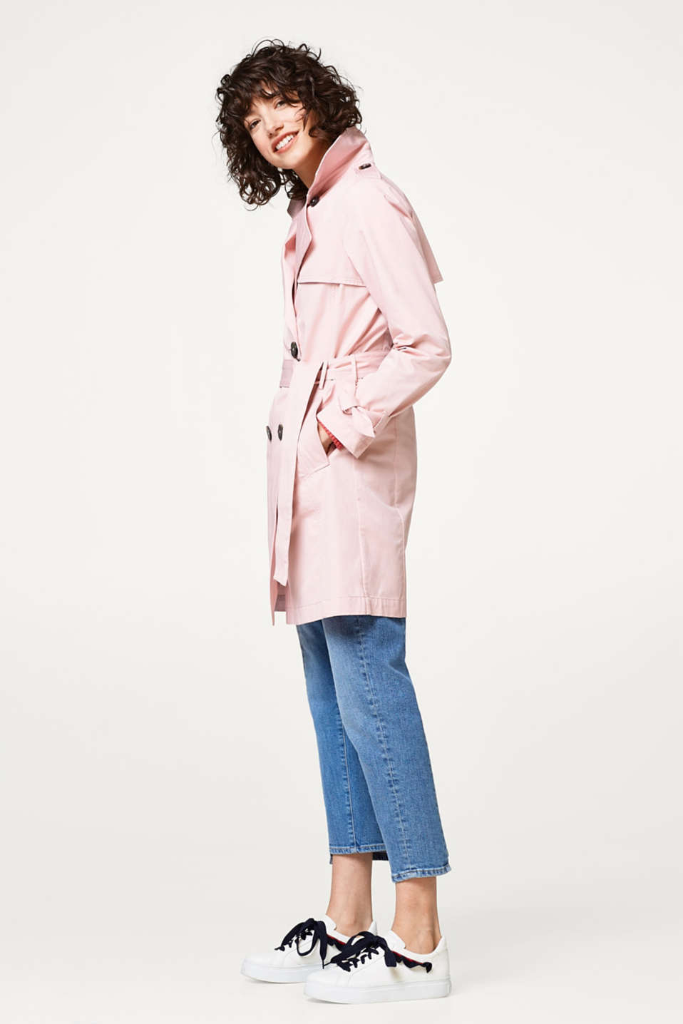 Trench-coat intemporel en coton