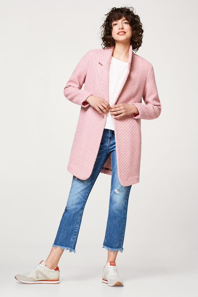 Woll-Mix Mantel im 2-tone-Look
