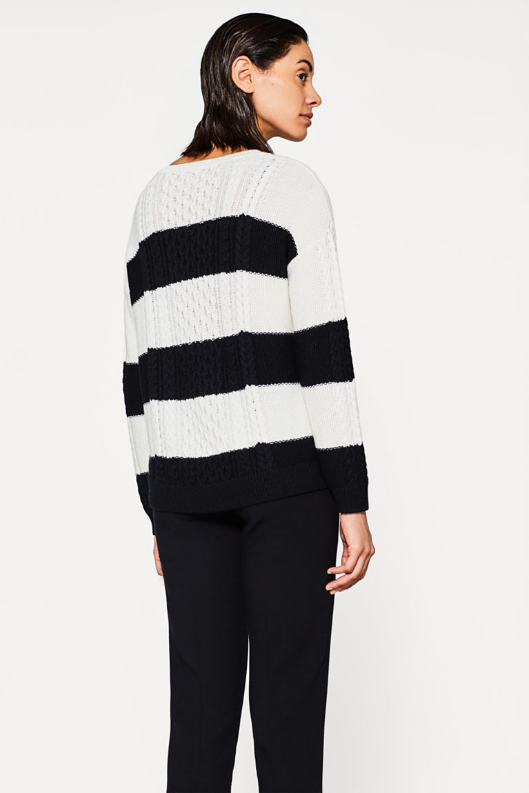 Strick-Sweater mit Zopf-Muster