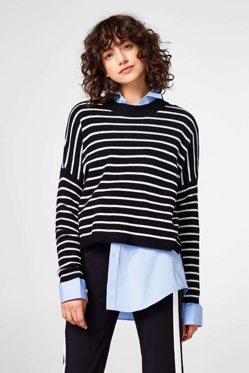 edc - Oversize-Pullover mit Wolle