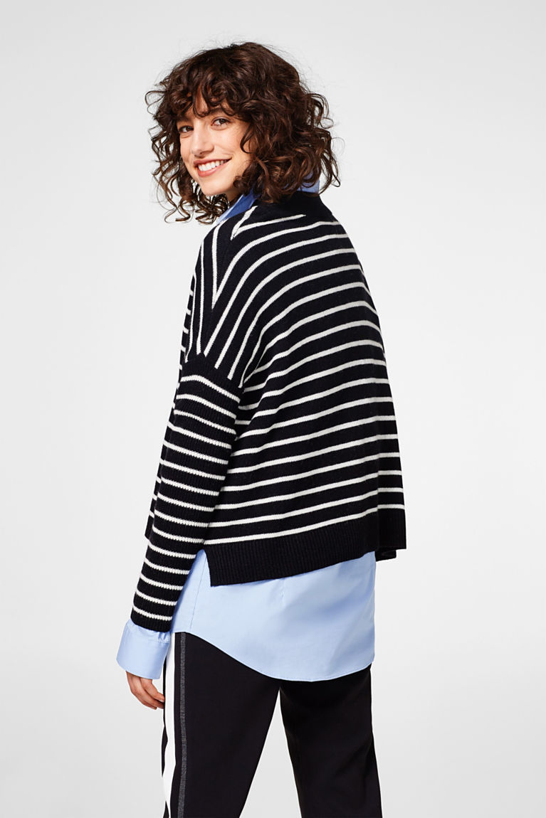 Oversize-Pullover mit Wolle