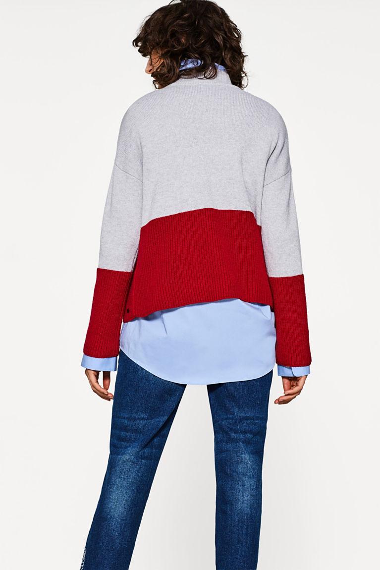 Weicher Colourblock-Pullover