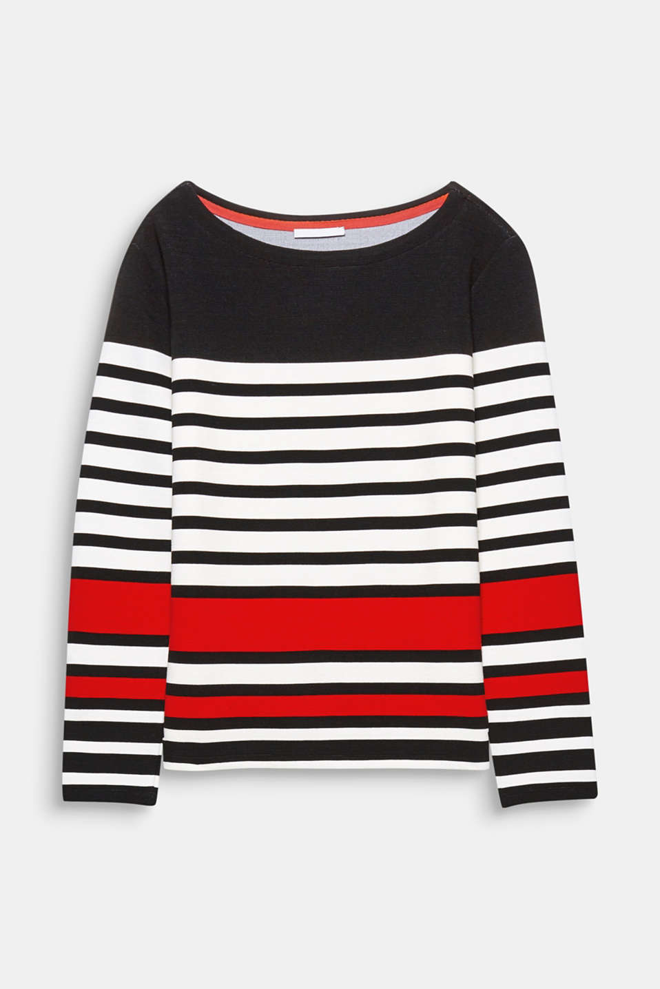 This sweatshirt with graphic stripes, a fine ribbed texture and trendy oversized design has a fresh, cool look!