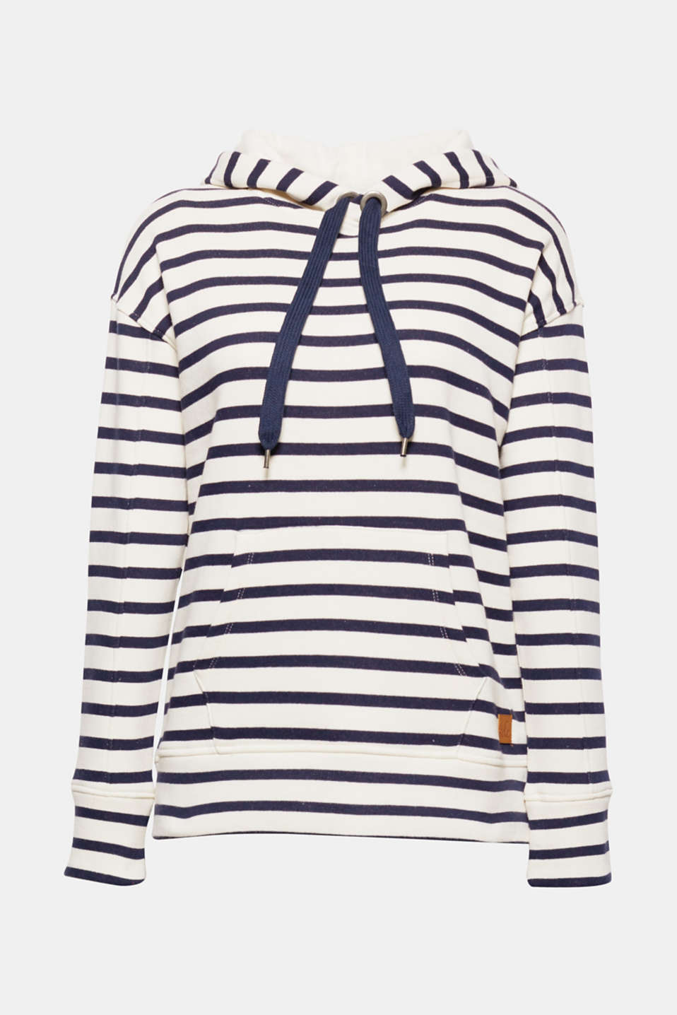 Striped on the outside, softly brushed on the inside: this cool, striped hoodie with a kangaroo pocket is a firm fave!