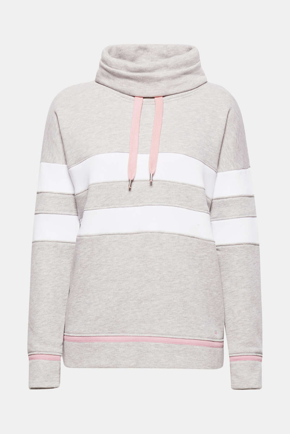 The compact material that is softly brushed on the inside and the colour block look give this sweatshirt a sporty vibe!