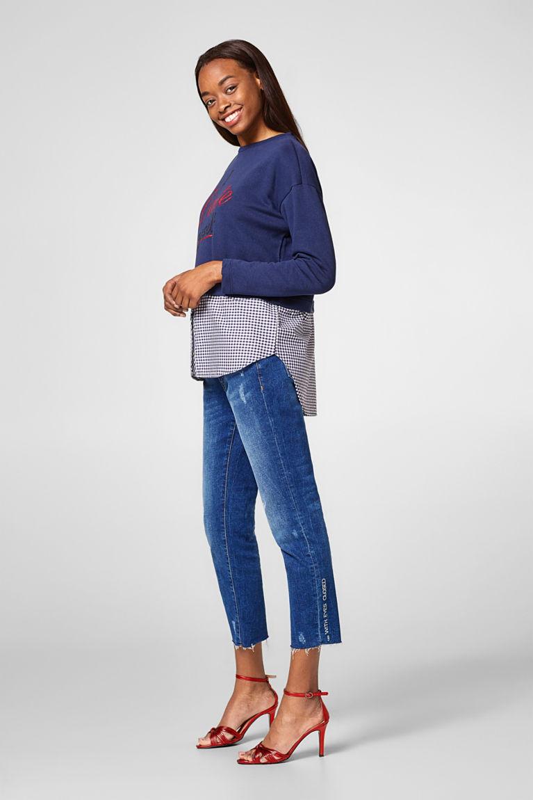 2-in-1-Sweater mit Glitzer-Print