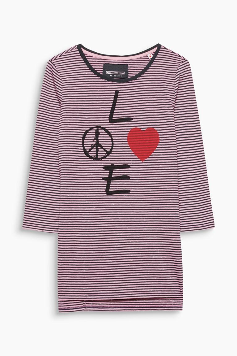 Print-Longshirt aus Baumwoll-Mix