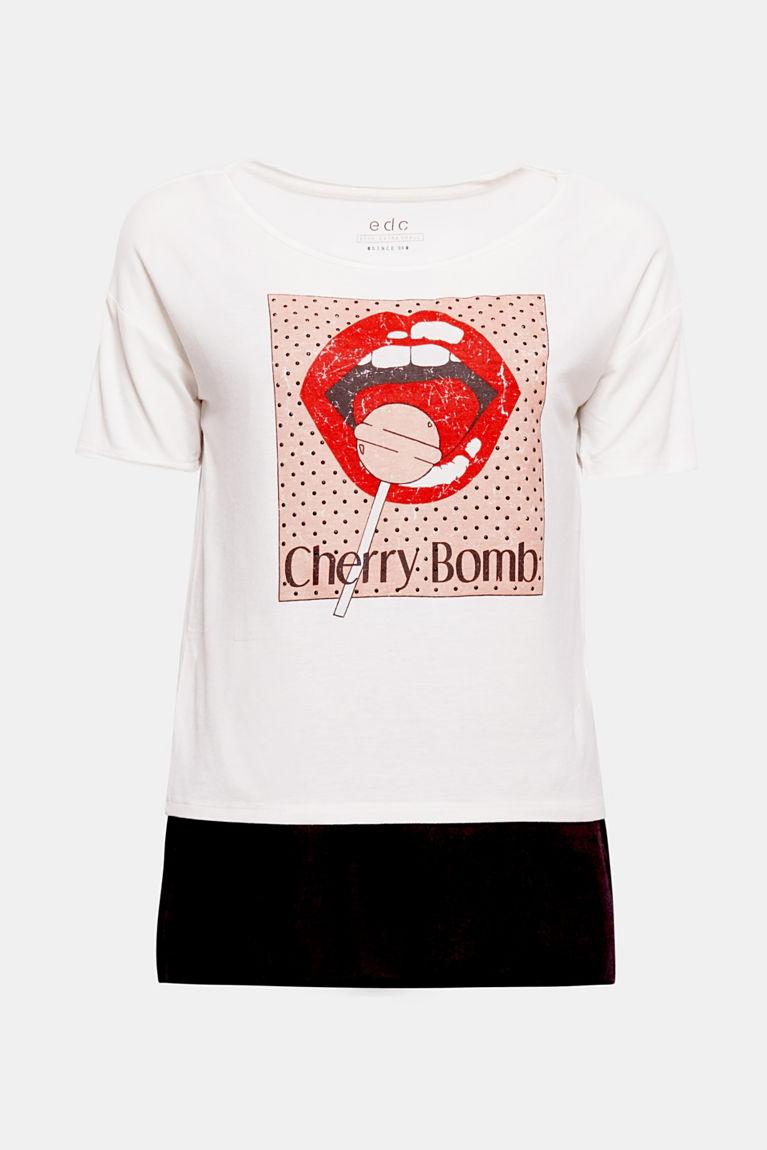 2-in-1: T-Shirt mit integriertem Top