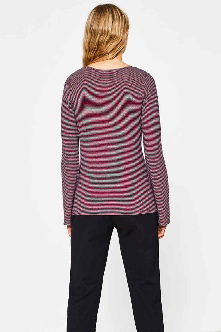 Stretch-Longsleeve mit Stickerei
