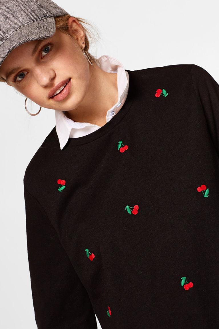Longsleeve mit Kirsch-Stitching