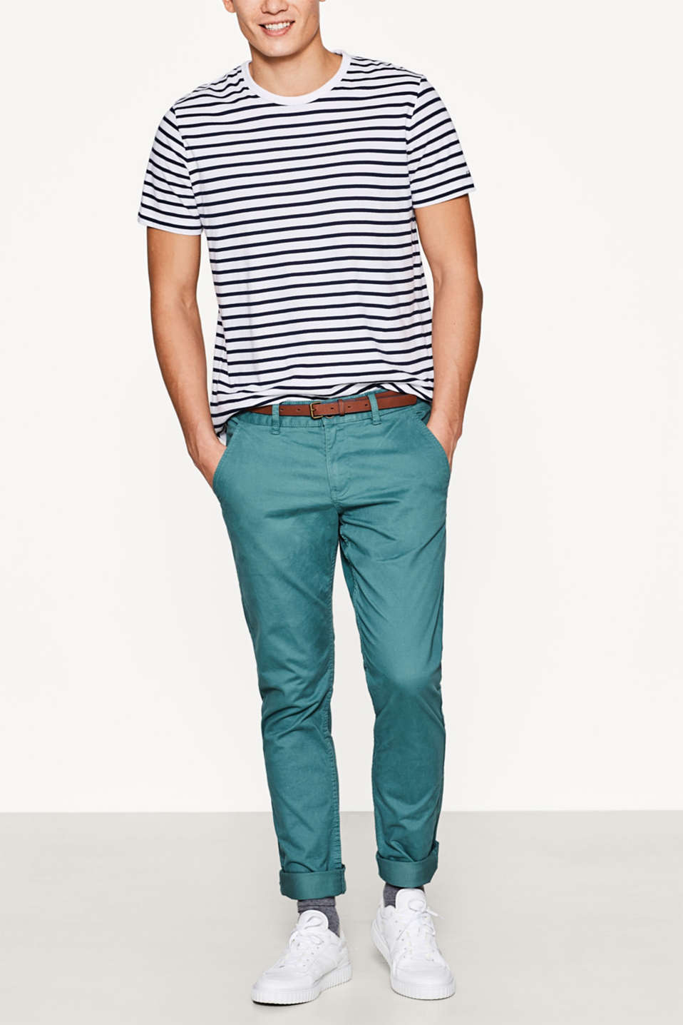 edc - Twill chinos in stretch cotton