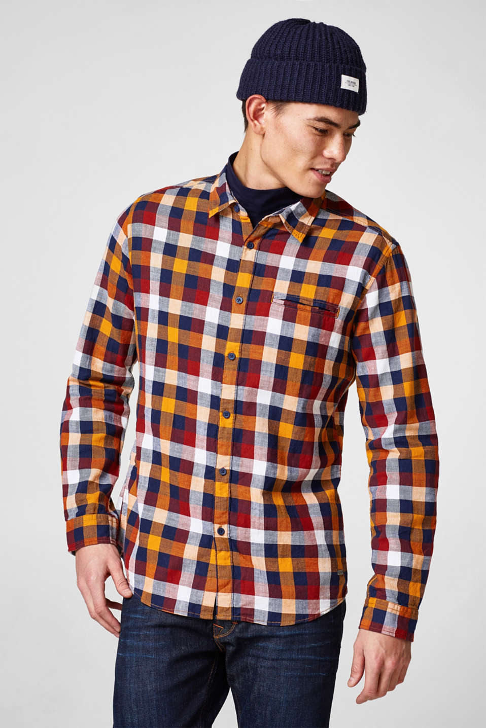 edc - Pure cotton check shirt