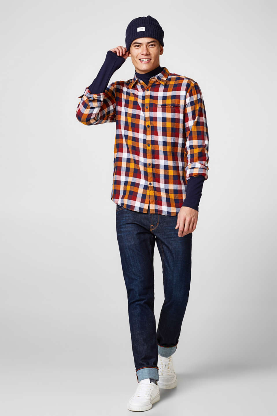 Pure cotton check shirt