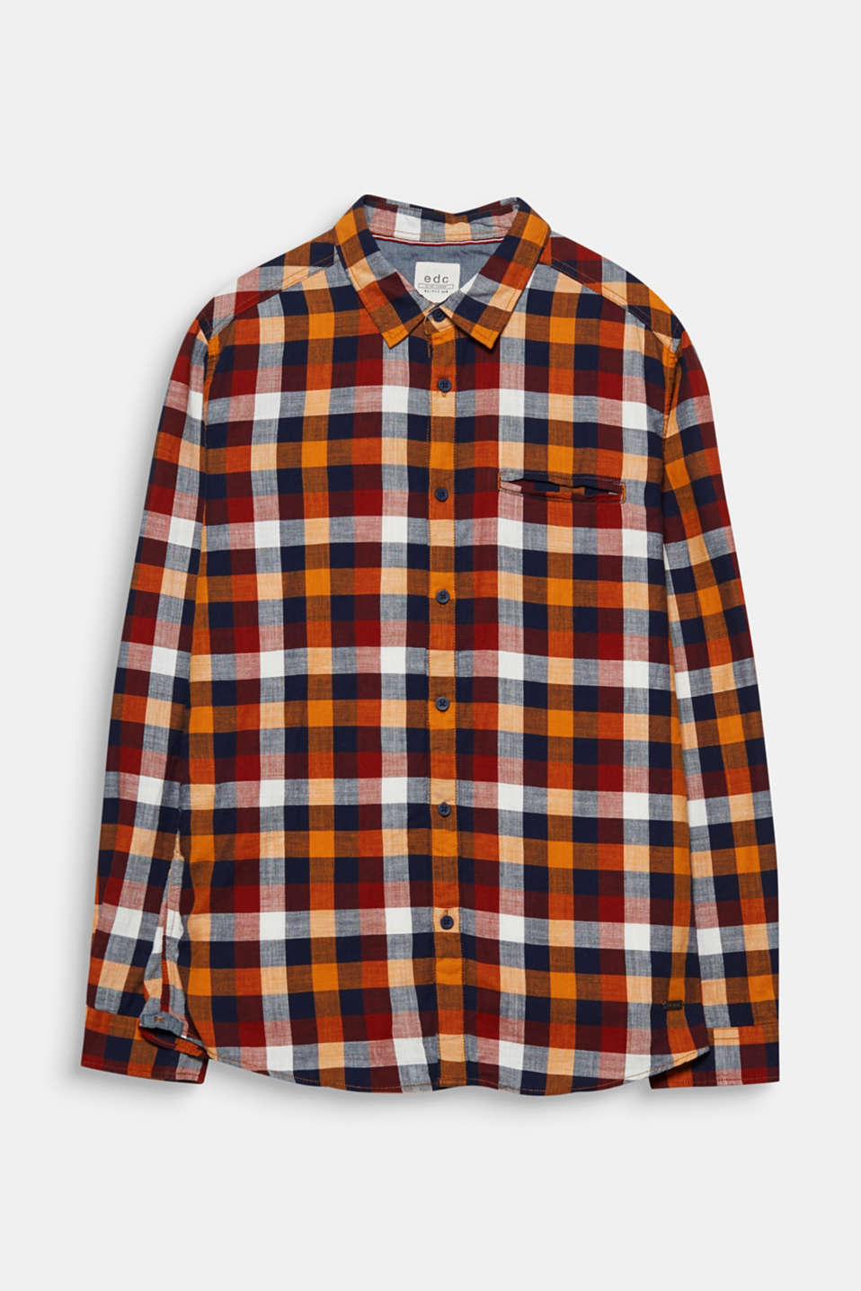 A classic, eye-catching accessory thanks to the colourful check pattern: 100% cotton shirt