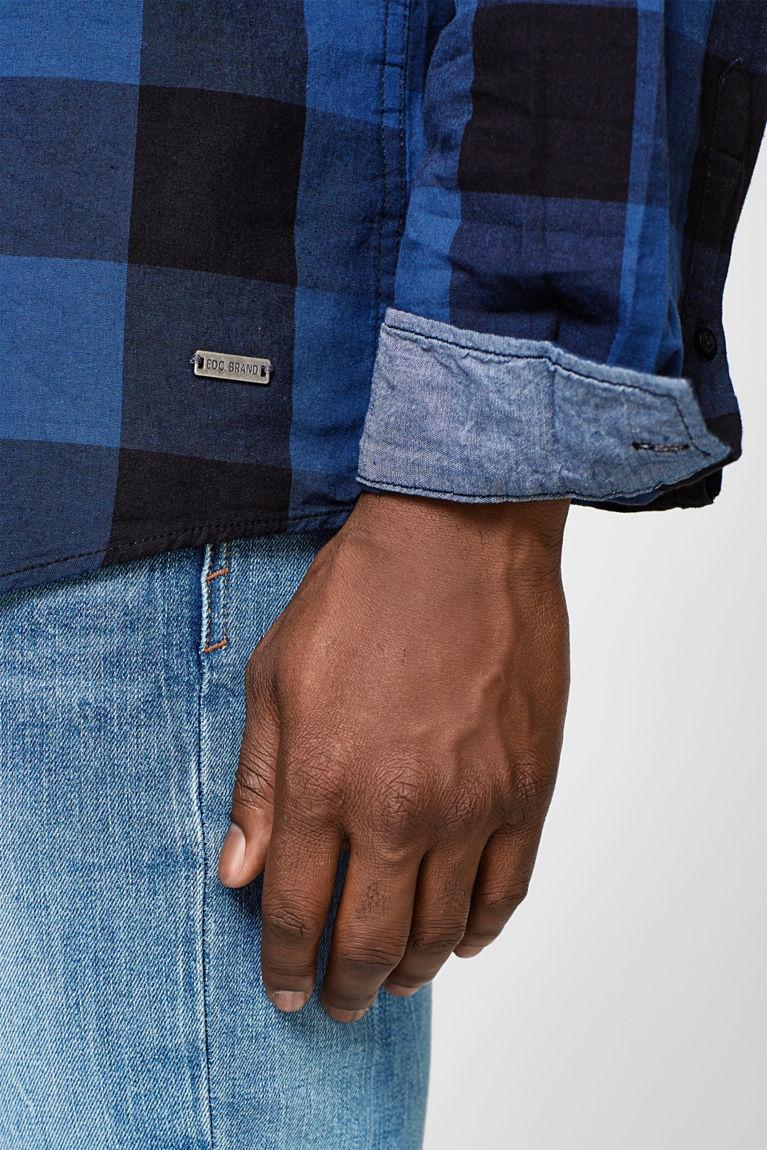 Twill-Hemd mit Karo-Muster