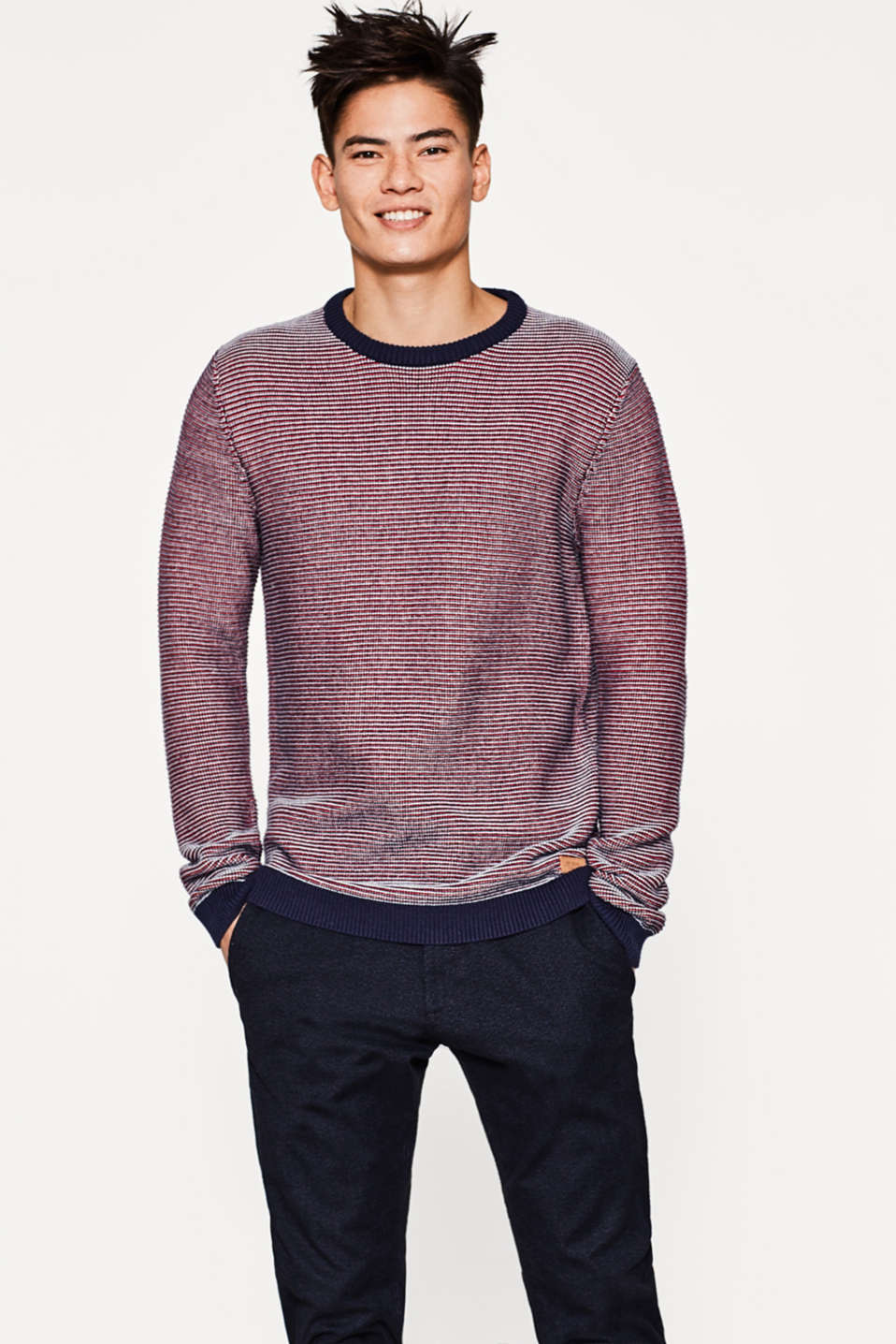 edc - Flerfarvet sweater i strik