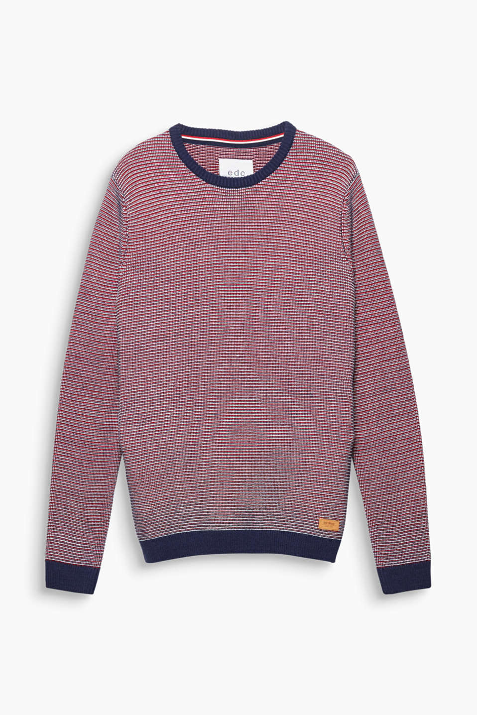Denne flerfarvede sweater i førsteklasses strik er til dit sporty look.