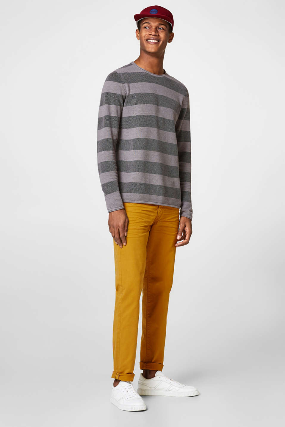 edc - Striped jumper in blended cotton