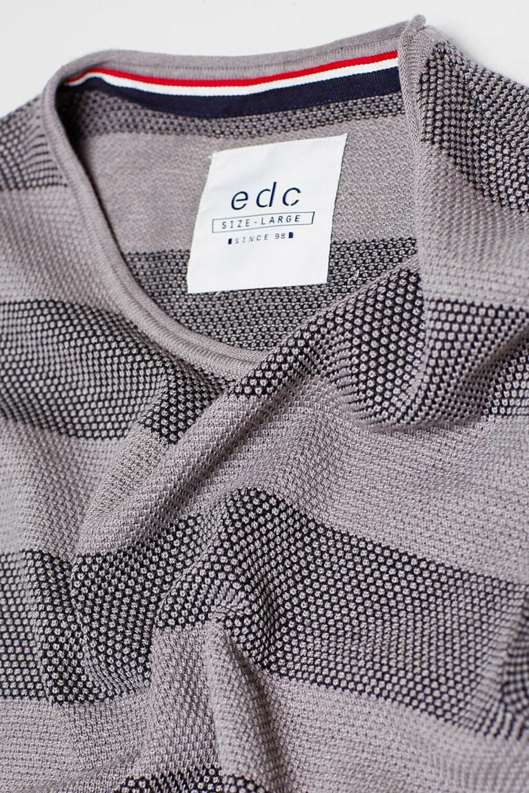 Streifen-Sweater aus Baumwoll-Mix