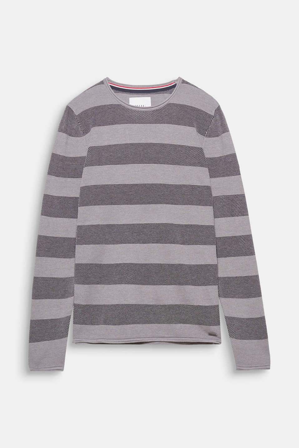 This textured jumper in blended cotton is a sporty basic for your wardrobe.