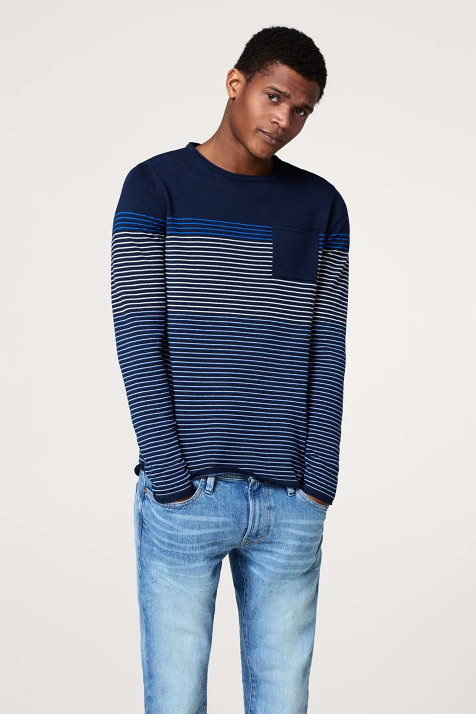 edc - Jumper with stripes in cotton