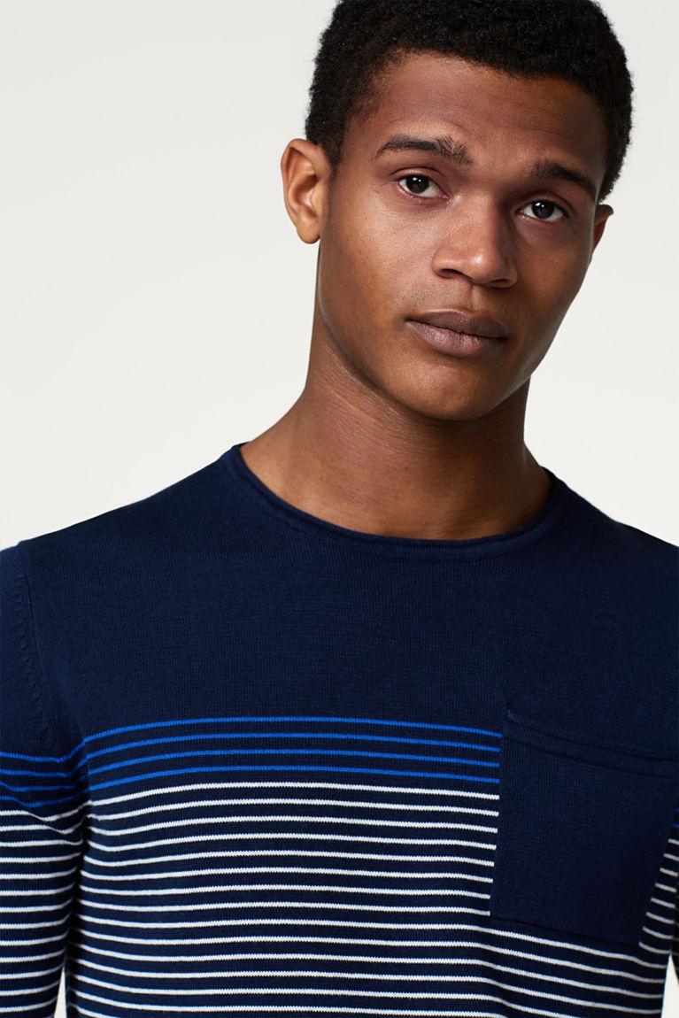 Sweater mit Streifen, aus Baumwolle