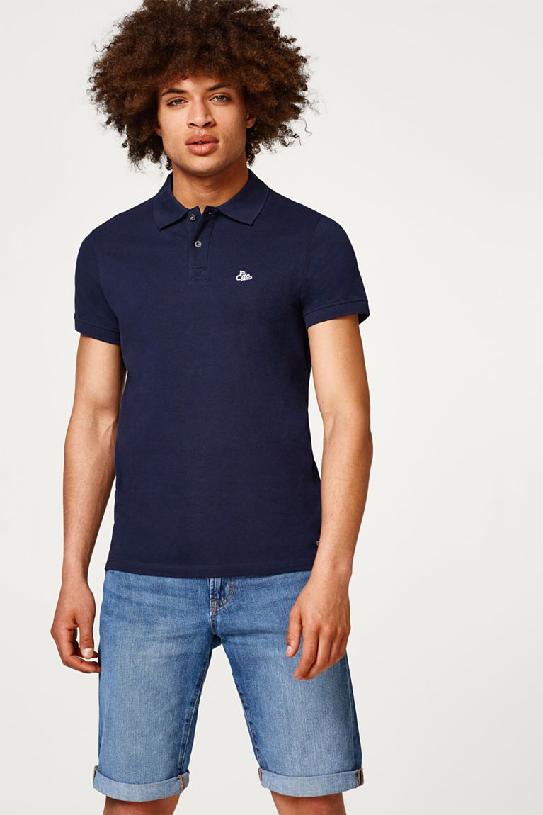 Poloshirt aus Piqué-Gewebe
